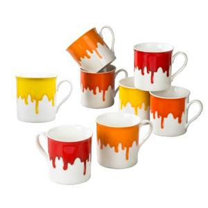 Drip Glaze Mugs - 8 Piece Set