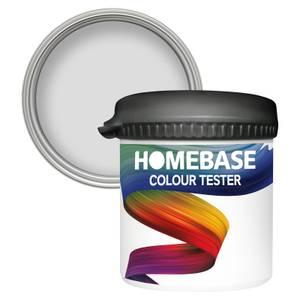 Homebase Matt Colour Paint Tester - White Noise 90ml