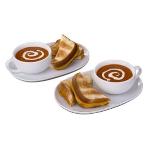 White Soup 'N' Snack Set For Two