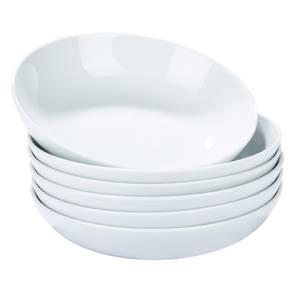 White Pasta Bowls - 6 Piece Set