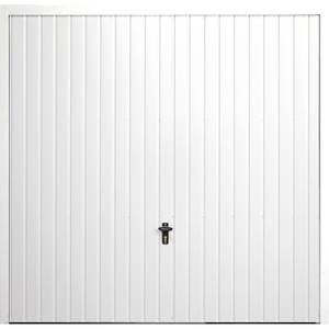 Vertical 7' x 7' Frameless Steel Garage Door White