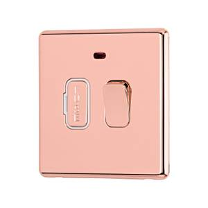 Arlec Fusion 13A Rose Gold Switched fused connection unit