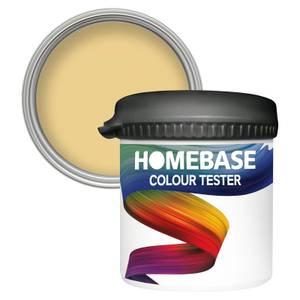 Homebase Matt Colour Paint Tester - Soft Mustard 90ml