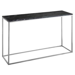 Signet Console Table - Black Marble & Chrome