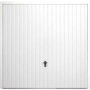 Vertical 8' x 7' Frameless Steel Garage Door White