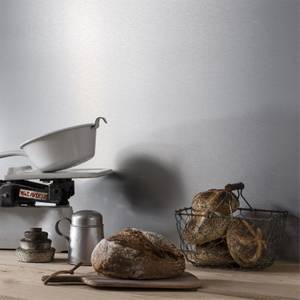 Alusplash Reversible Splash Back - 3050 x 545mm - Silver Brushed & Latte