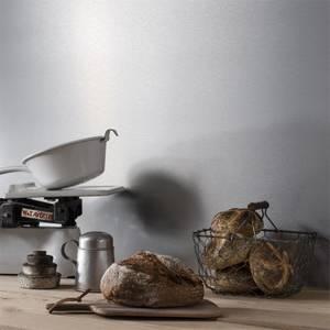 Alusplash Reversible Splash Back - 900 x 800mm - Silver Brushed & Latte