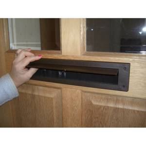 Stormguard Internal Letter Box Plate with Flap Draught Excluder - Brown