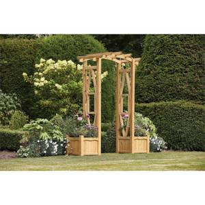 RHS Arch with Planters
