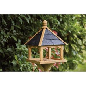 RHS Anchor Fast Square Bird Table Slate Roof