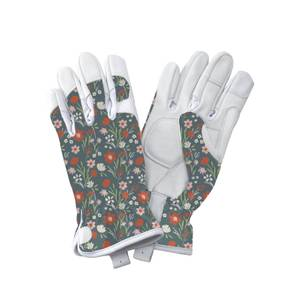 Premium Leather Gloves Flower - Medium