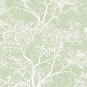 Holden Decor Whispering Trees Textured Metallic Glitter Green and Silver Wallpaper