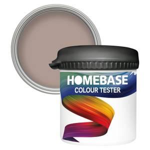 Homebase Matt Colour Paint Tester - Fine Taupe 90ml