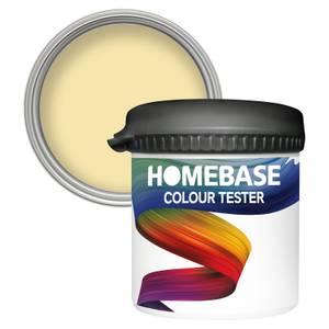 Homebase Matt Colour Paint Tester - Lemon Souffle 90ml