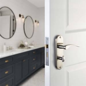 Sandleford Moreton Bathroom Lever Set - Brushed Nickel
