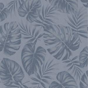 Holden Decor Riviera Leaf Textured Metallic Navy Wallpaper
