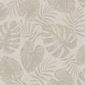 Holden Decor Riviera Leaf Textured Metallic Taupe Wallpaper