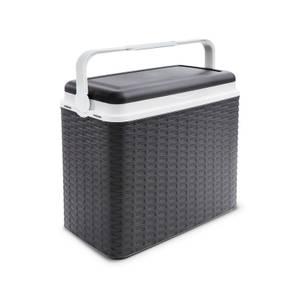 24L Rattan style cool box - Anthracite