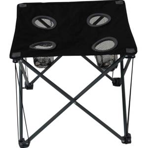 Camping table with cup holders