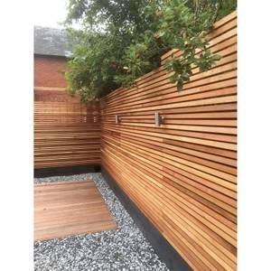 Western Red Cedar SertiWOOD Battens-Screen Slats Contemporary Fence (441 Pack) 34.6m2