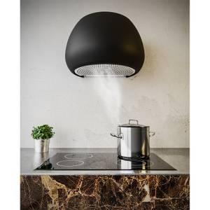 Inox Icon 65cm Wall-Mounted Canopy Cooker Hood - Satin Black