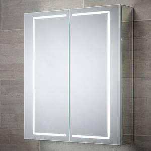 Castor Double Door LED Mirror Cabinet