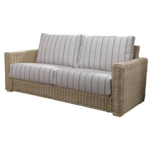 Burford 3 Seater Sofa In Linen Taupe