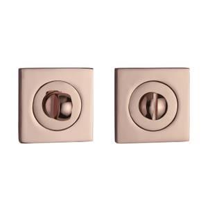 Sandleford Square Bathroom Escutcheon - Polished Copper