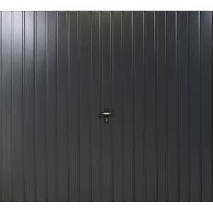 Vertical 7' x 7' Frameless Steel Garage Door Anthracite Grey