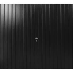 Vertical 7' x 7' Frameless Steel Garage Door Black