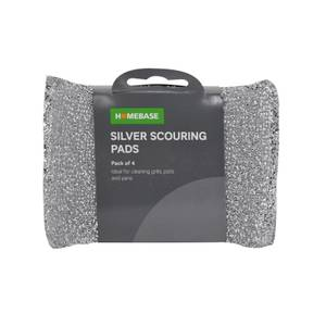 4 pack of Silver Scouring Pads