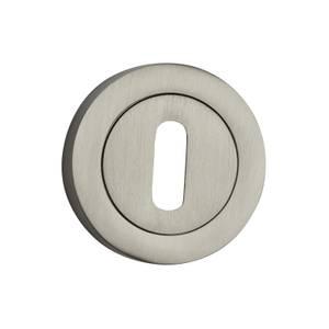 Sandleford Round Keyhole Escutcheon - Brushed Nickel