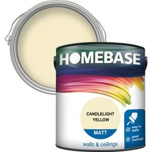 Homebase Matt Paint - Candlelight Yellow 2.5L