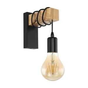 Eglo Townshend Wall Light - Black & Brown