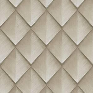 Belgravia Decor Callisto Geometric Embossed Metallic Ivory Wallpaper