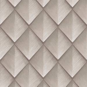 Belgravia Decor Callisto Geometric Embossed Metallic Rose Gold Wallpaper