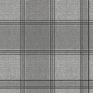 Belgravia Decor Giorgio Tartan Embossed Metallic Silver Wallpaper