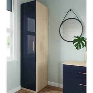 Modular Bedroom Slab Single Wardrobe - Navy Blue
