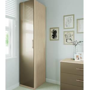 Modular Bedroom Slab Single Wardrobe - Champagne