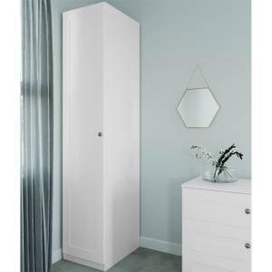 Modular Bedroom Shaker Single Wardrobe - White