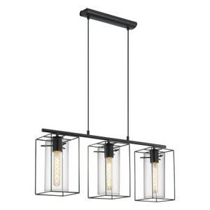 Eglo Loncino 3 Light Pendant Light - Black