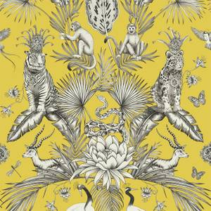 Belgravia Decor Menagerie Animal Smooth Yellow Wallpaper