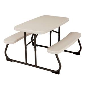 Lifetime Children?s Folding Picnic Table in Almond ? 32.5 x 19 in