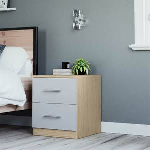 Modular Bedroom Slab Bedside Chest - Grey