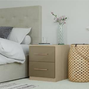 Modular Bedroom Slab Bedside Chest - Champagne