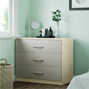 Modular Bedroom Slab 3 Drawer Chest - Cashmere