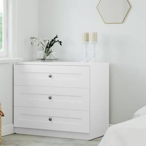 Modular Bedroom Shaker 3 Drawer Chest - White