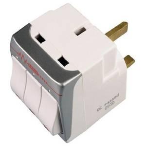 Masterplug 3 Socket Switched Surge Adaptor White
