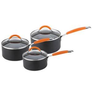 Joe Wicks Easy Release Induction Non-Stick Aluminium Saucepans - Set of 3