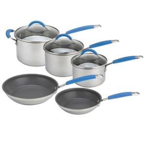 Joe Wicks Quick and Even Induction Non-Stick Stainless Steel Cookware - Set of 5